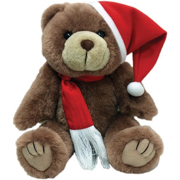 """8"""" Kirby Santa Bear with Scarf"""