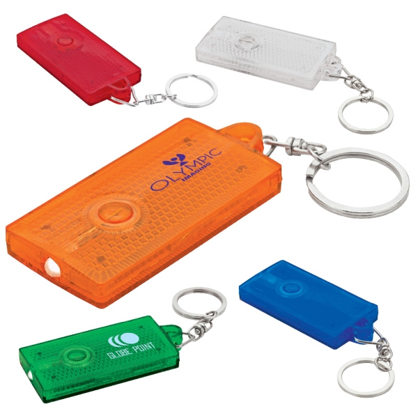 Reflected Pop - Safety Reflector Keychain With Led Light Photo