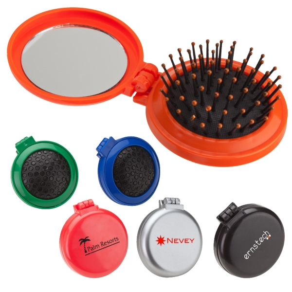 Look Marvelous - Compact Pop-out Brush And Shatter Resistant Mirror Photo