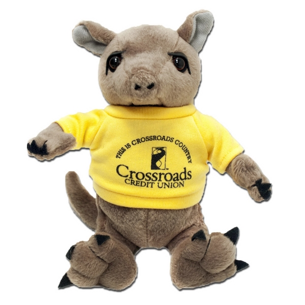 "7"" Armadillo with T-shirt and One Color Imprint"