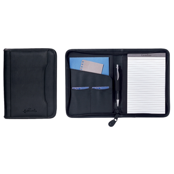 Executive - Junior Simulated Leather Padfolio With Organizer Pockets And Pen Loop Photo