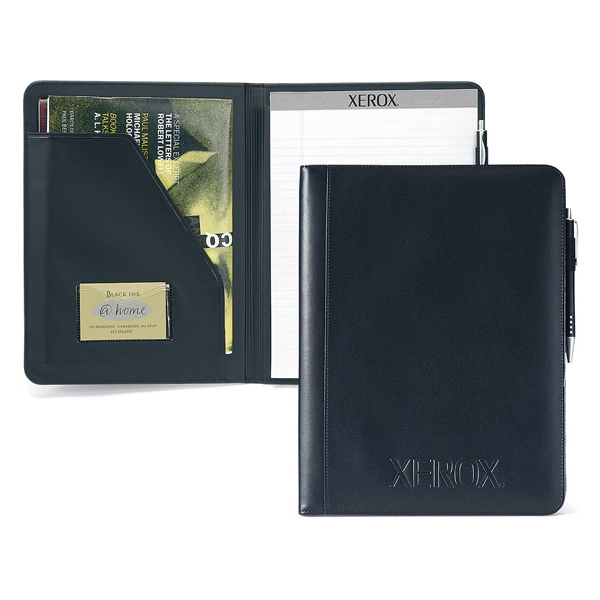 Primary - Simulated Leather Writing Pad With Clear Id Pocket Photo