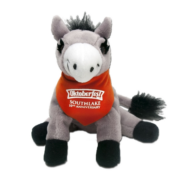 "7"" Donkey with bandana and one color imprint"