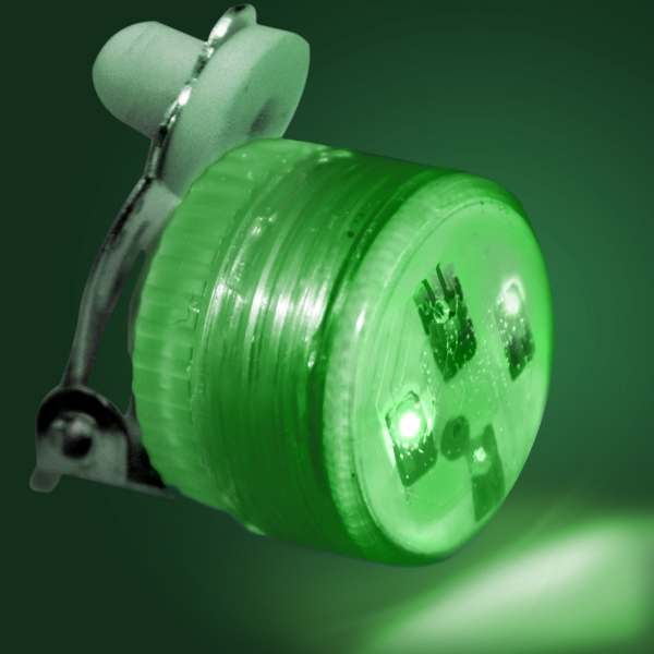 LED Clip On Pin, Green Candy Lites (non-flashing)