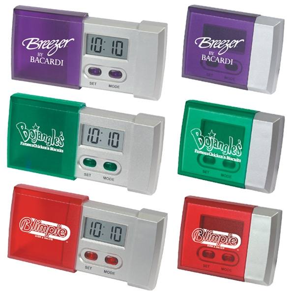 Sliding Pocket Travel Alarm Clock Photo