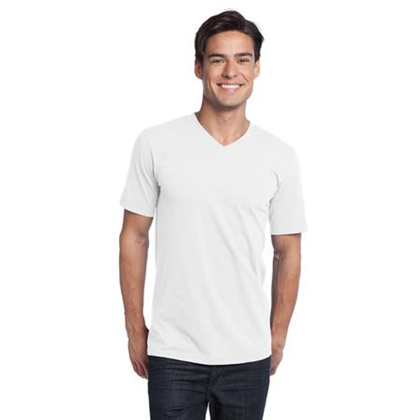 District (r) -  X S- X L White - Young Men's Concert V-neck Tee That Keeps The Beet Going Photo