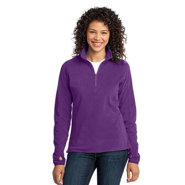 Port Authority (r) - 2 X L - Ladies Microfleece 1/2 Zip Pullover Jacket With Gently Contoured Silhouette Photo