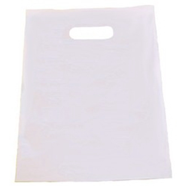 "White Patch Handle Bag, 12"" X 15"" Photo"
