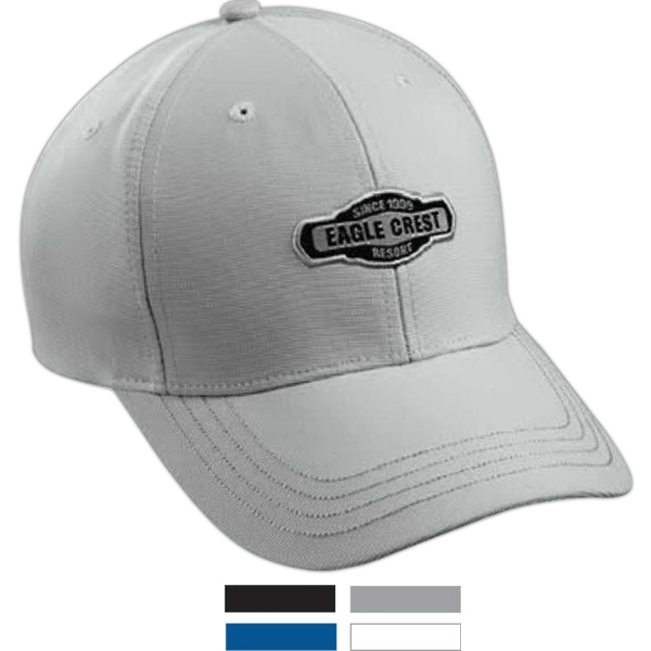 Structured Performance Solid Dobby Cap With Pre-curved Visor Photo