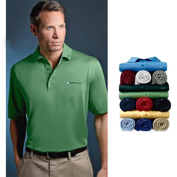 Sport - 3 X L - Men's Micropolyester Pique Polo Shirt With Knit Cuffs And 3-button Placket Photo