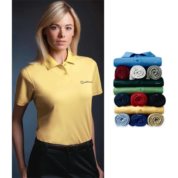 Sport - 2 X L - Ladies' Micropolyester Pique Polo Shirt With 2-button Placket Photo