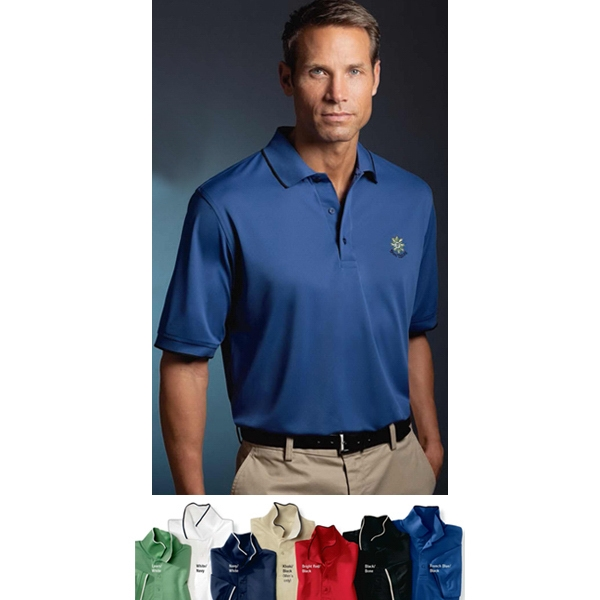 Sport - 2 X L - Men's Micro-polyester Pique Polo Shirt With Knit Tipped Collar And Cuffs Photo