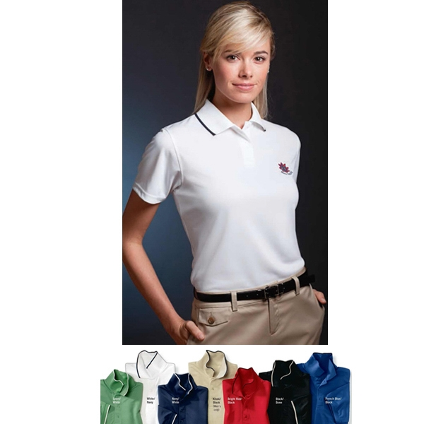 Sport - 2 X L - Ladies' Micro-polyester Pique Polo Shirt With Hemmed Sleeves And 2-button Placket Photo