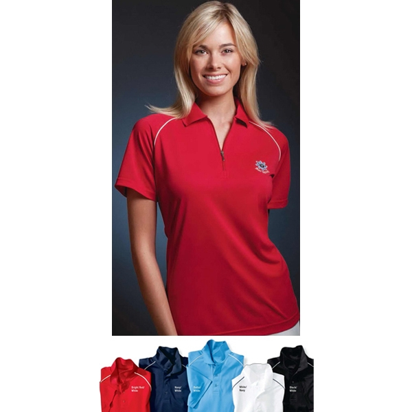 Sport - 2 X L - Ladies' Performance Pique Polo Shirt With Piped Raglan Hemmed Sleeves Photo