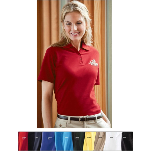 Classics - 3 X L - Ladies' Essential Ringspun Pique Polo Shirt With Johnny Collar Photo