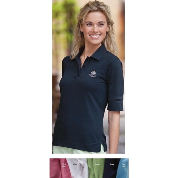 Classics - 2 X L - Ladies' Half-sleeve Pima Stretch Jersey Shirt With Turned Back Cuffs Photo