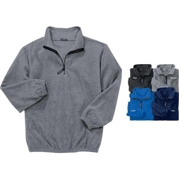 S- X L - Heavyweight Fleece Zip Cadet Pullover Photo