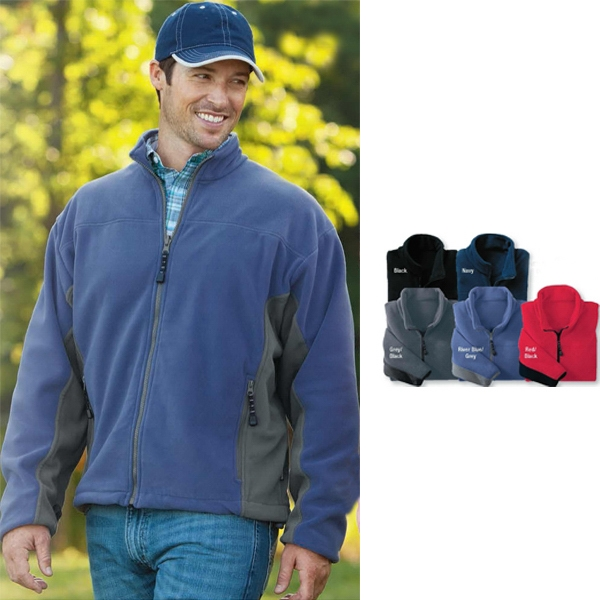 2 X L - Men's Micro-fleece Jacket With Fully-lines Sleeves Photo