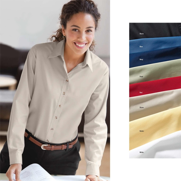 S- X L - Ladies' Easy Care Long-sleeve Shirt With Spread Collar Photo