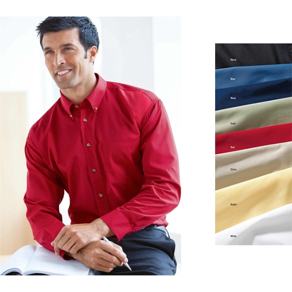 4 X L - Men's Easy Care Long-sleeve Shirt With Double-pleated 3-button Cuffs. *promo* Photo