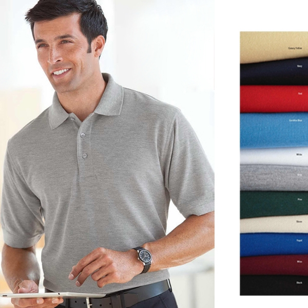 S- X L - Men's Short-sleeve Easy Care Polo Shirt With Upf 30+ Sun Protection Photo