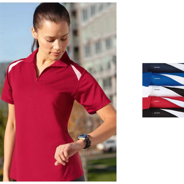 Sport (tm) - 2 X L - Ladies' Color Block Polo Shirt With Coolmatrix (tm) Technology Photo