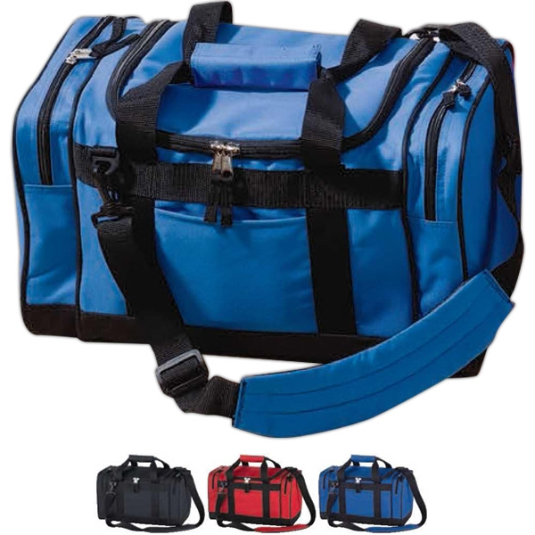 "Sport Bag With Two Zippered 2"" Side Gusset Pockets Photo"