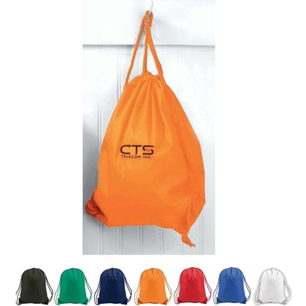Drawstring Backpack With Color-matched Metal Grommets Photo
