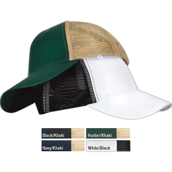 Low Profile Cap With Twill Front And Polyester Mesh Back Photo