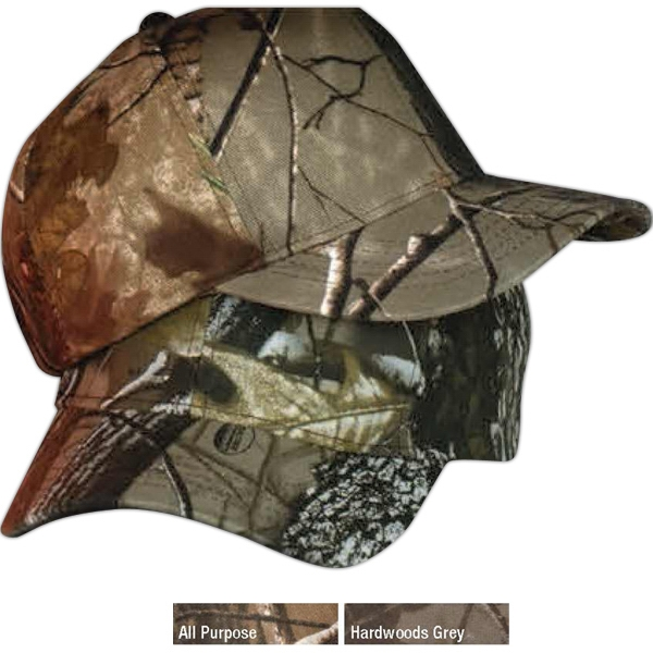 Structured 6-panel Camo Cap With Black Sweatband And Sewn Eyelets Photo