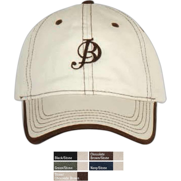 Contrast Stitch Cap With Rolled Edge Visor Photo