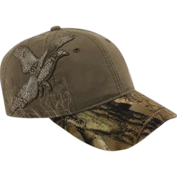 Authentic Wildlife Series (tm) - Pheasant - Low-profile Cap With Realtree (r) Ap Hd (r) Camouflage Pattern Visor Photo