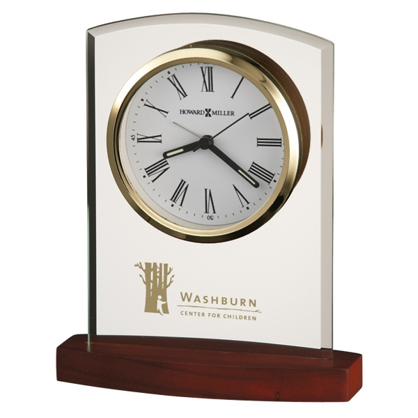 Marcus - Alarm Clock Features A White Dial With Polished Gold-tone Bezel Photo