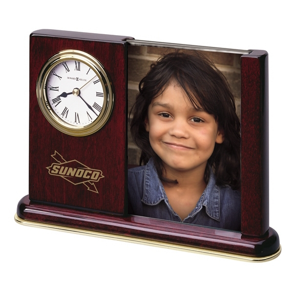 Portrait Caddy - High Gloss Rosewood Finish Caddy With Photo And Clock Photo