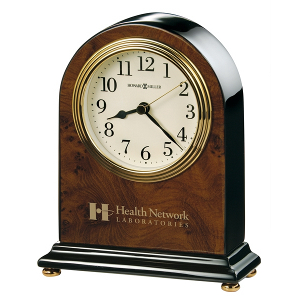 Bedford - Arched Table Clock Offers Black Arabic Numerals Photo