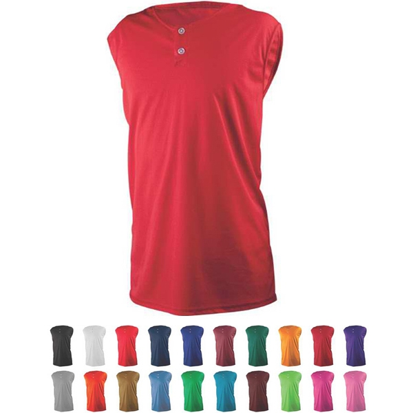 Adult & Youth 2 Button Placket Sleeveless