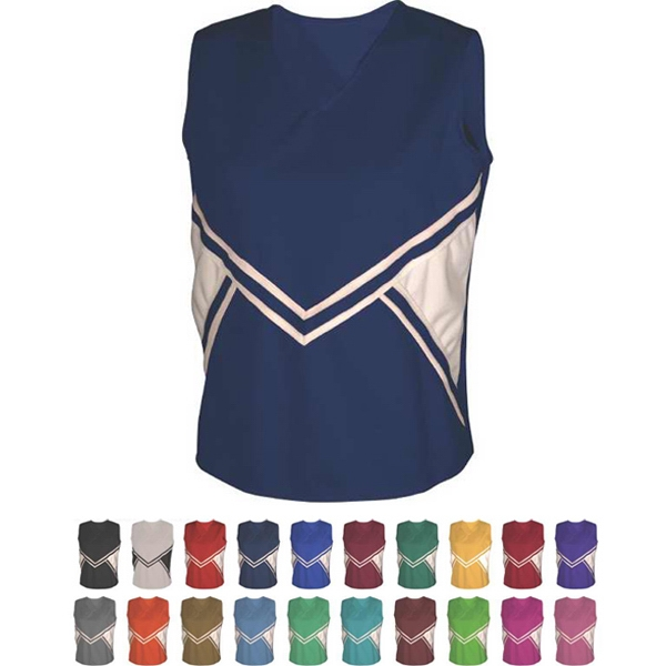 Women's & Girls Two Color Top with Trim