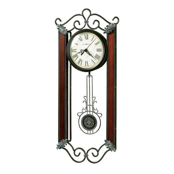 Carmen - Wrought-iron Wall Clock With Cast Decorative Corner Ornaments Finished In Warm Gray Photo
