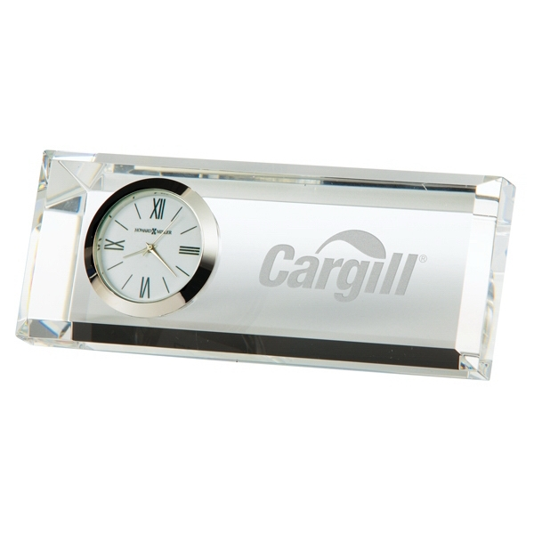 Prism - Optical Crystal Table Clock Photo