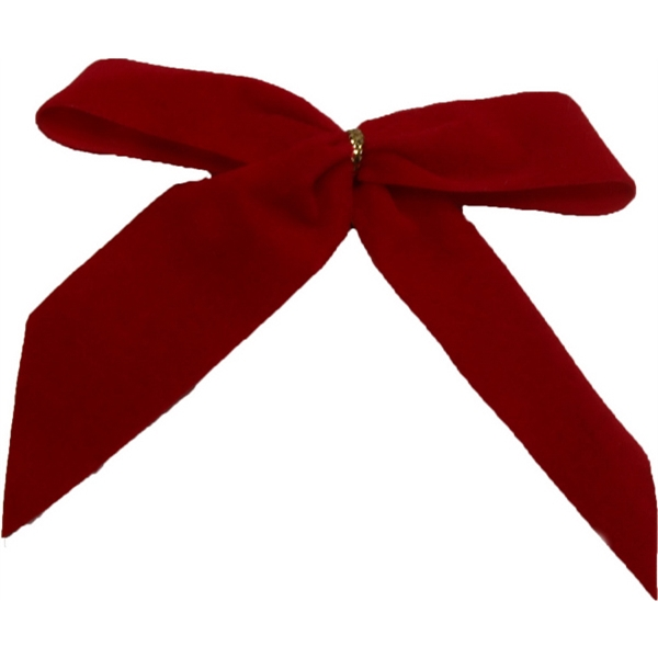 """3.5"""" Red Christmas Bow"""