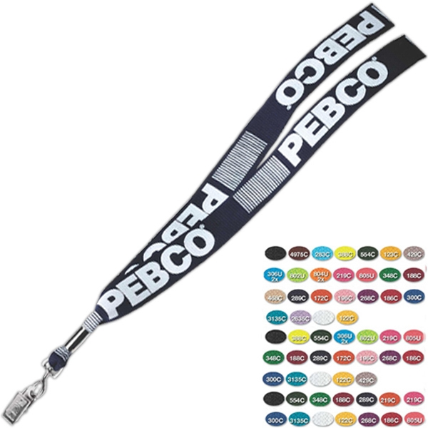 "Standard Length Lanyard With Swivel Bulldog Attachment, 1"" X. 19"" Photo"