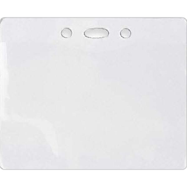 "Horizontal Vinyl Badge Holder - Blank, horizontal vinyl badge holder, holds 4"" x 2 5/8"" badge."