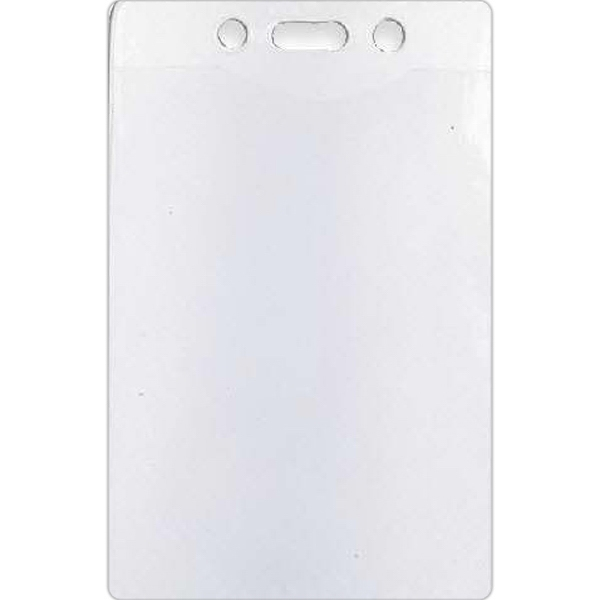 "Blank, Vertical Badge Holder, Holds 2 3/4"" X 4"" Badge Photo"