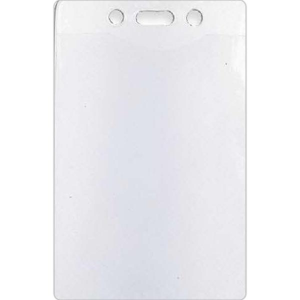 """Vertical Vinyl Badge Holder - Blank, vertical badge holder, holds 2 3/4"""" x 4"""" badge."""