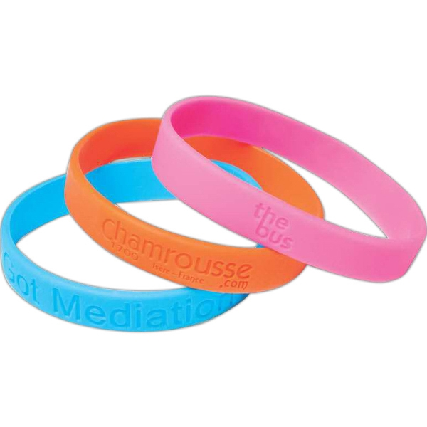 "Silicone Bracelet, 1/2"", Deboss Photo"