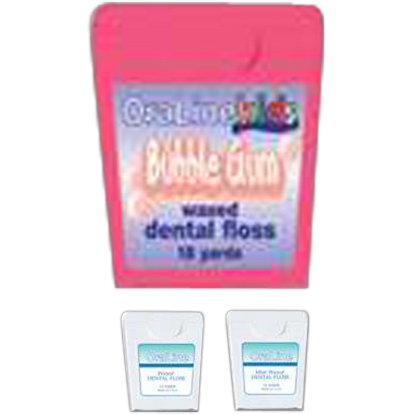 Nylon Bubble Gum Flavored Dental Floss, 12 Yds. In A White Dispenser Photo