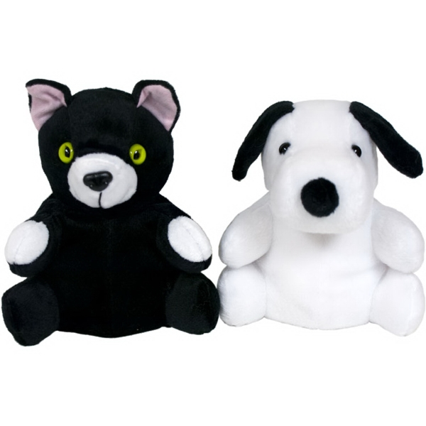 "7"" Cat/Dog Reversible Puppet"