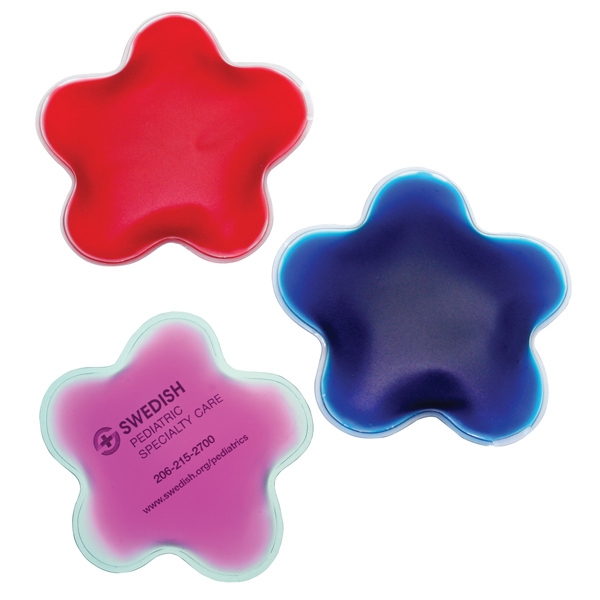 Pink - Flower - Star Shaped Chill Patch Filled With Cool Soothing Gel Photo