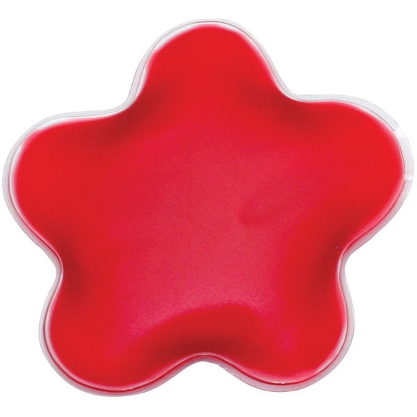 Red - Flower - Star Shaped Chill Patch Filled With Cool Soothing Gel Photo