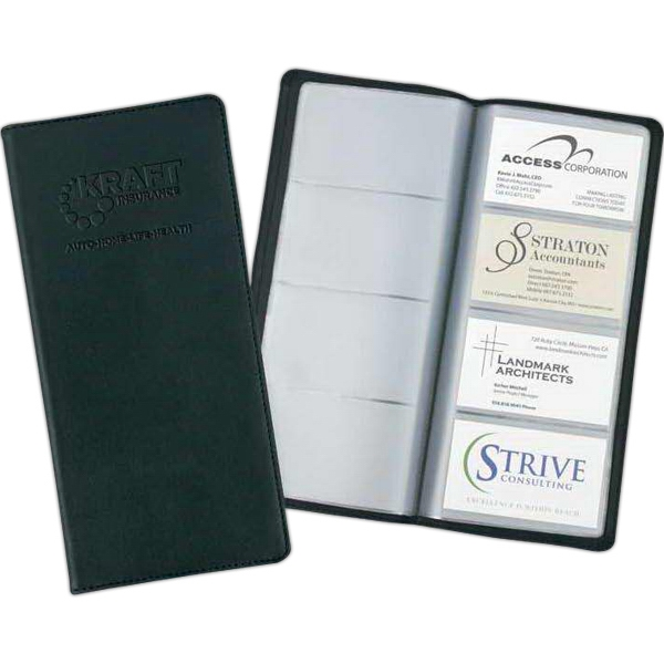 Stratton - Black Vinyl Card Caddy. Holds 96 Cards Photo